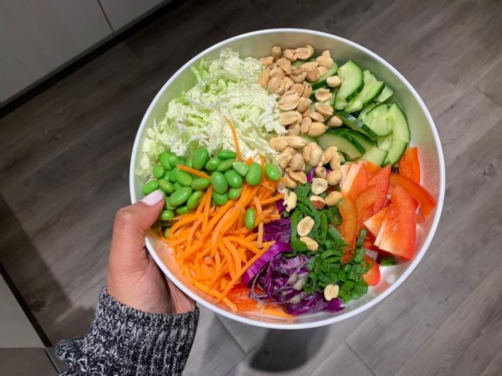 Thai Salad with Air FriedShrimp